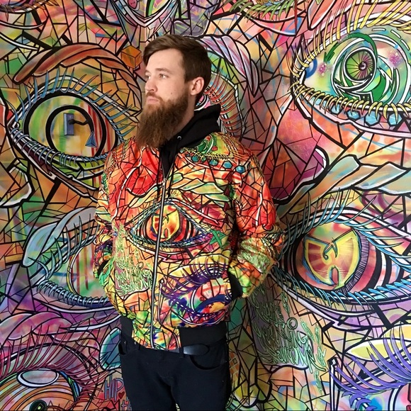 UNISEX♥️limited edition mural jacket by:norm4eva